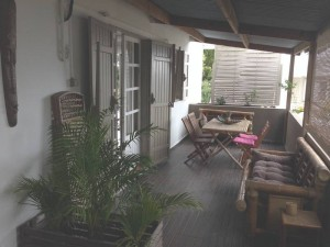 Terrasse de la Villa Bambou