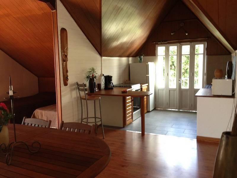 Salon et Cuisine de la Villa Vanille