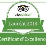 Certificat d'Excellence Triadvor 2014 : Tripadvisor